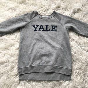 League Yale High Low Raglan Sweatshirt Grey